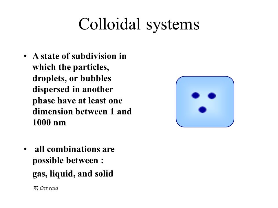 Colloidal systems