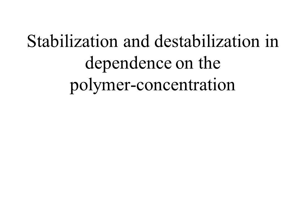 Stabilization and destabilization in dependence on the polymer-concentration