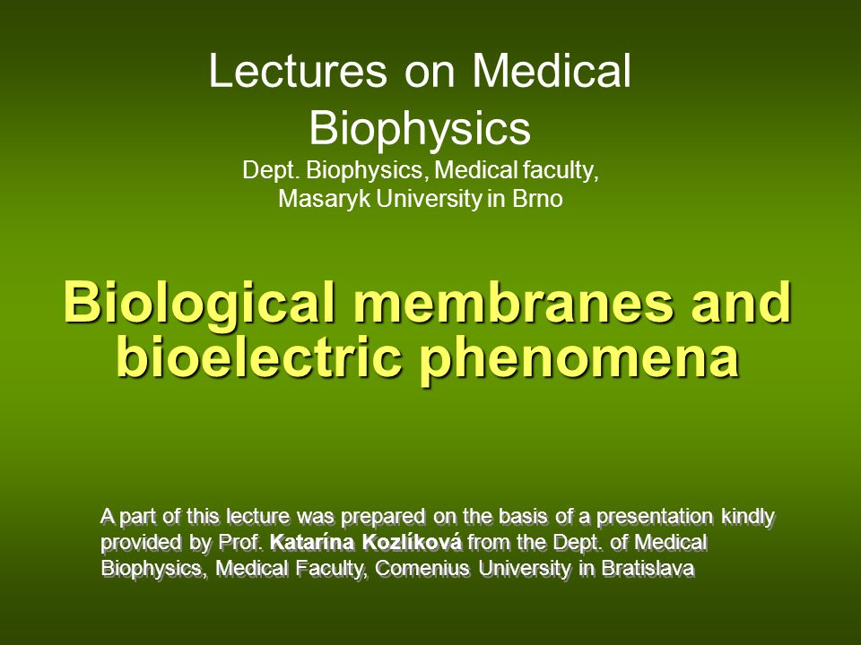 Biological membranes and bioelectric phenomena