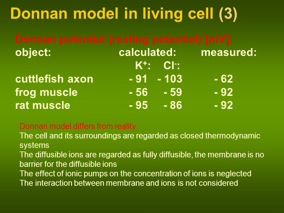 Donnan model in living cell (3)