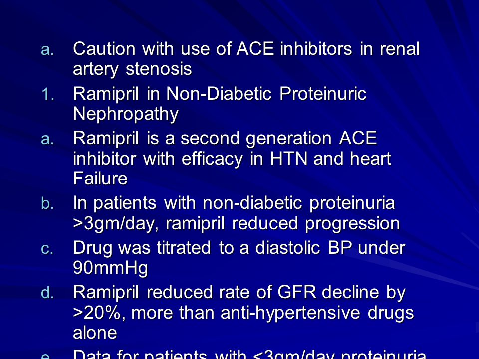 Caution with use of ACE inhibitors in renal artery stenosis