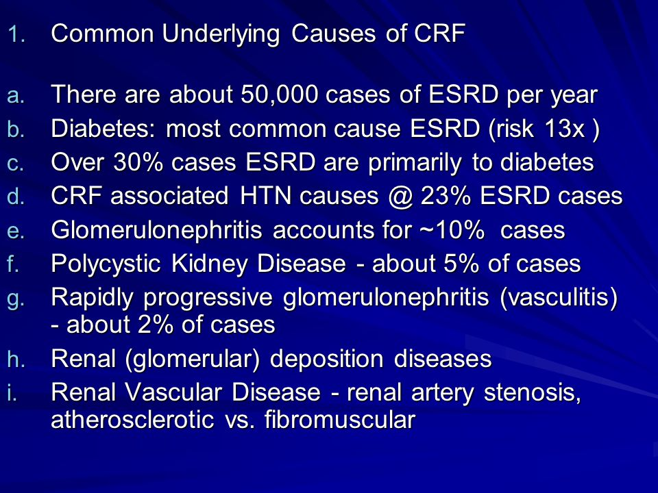 Common Underlying Causes of CRF