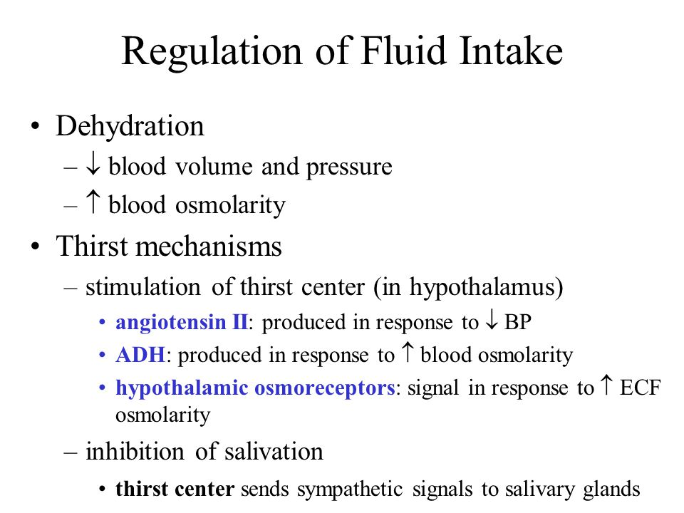 Regulation of Fluid Intake