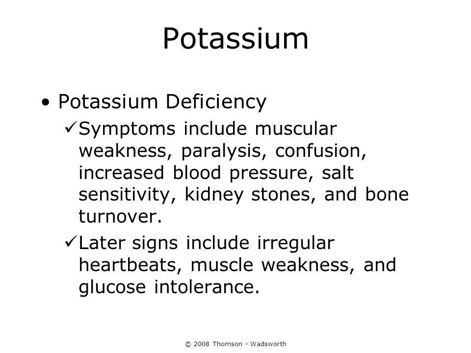 Potassium Potassium Deficiency