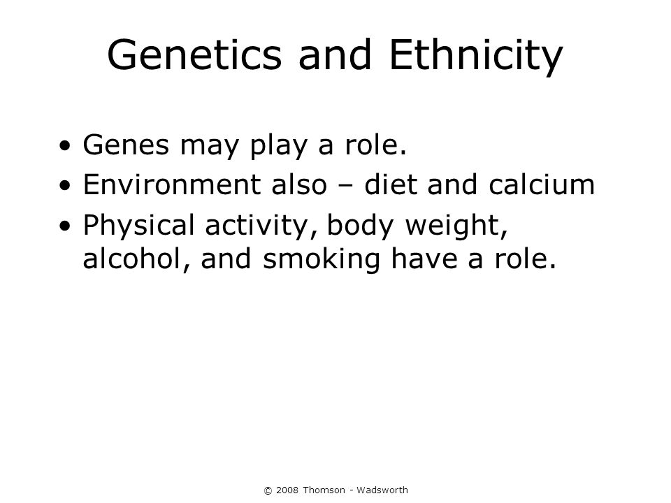 Genetics and Ethnicity
