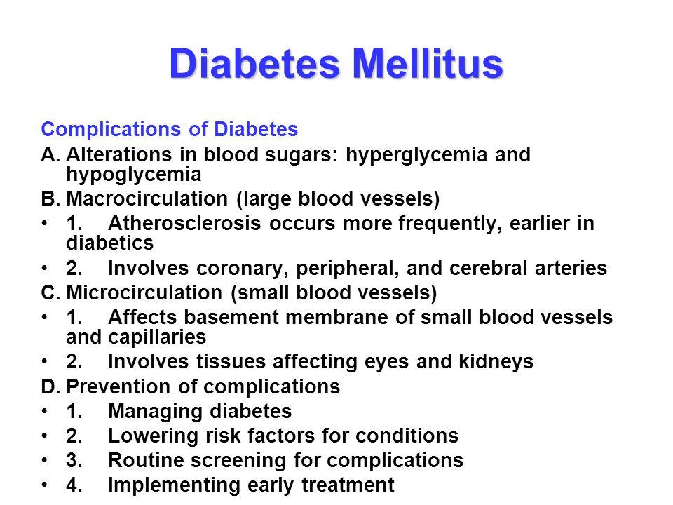 Diabetes Mellitus Complications of Diabetes