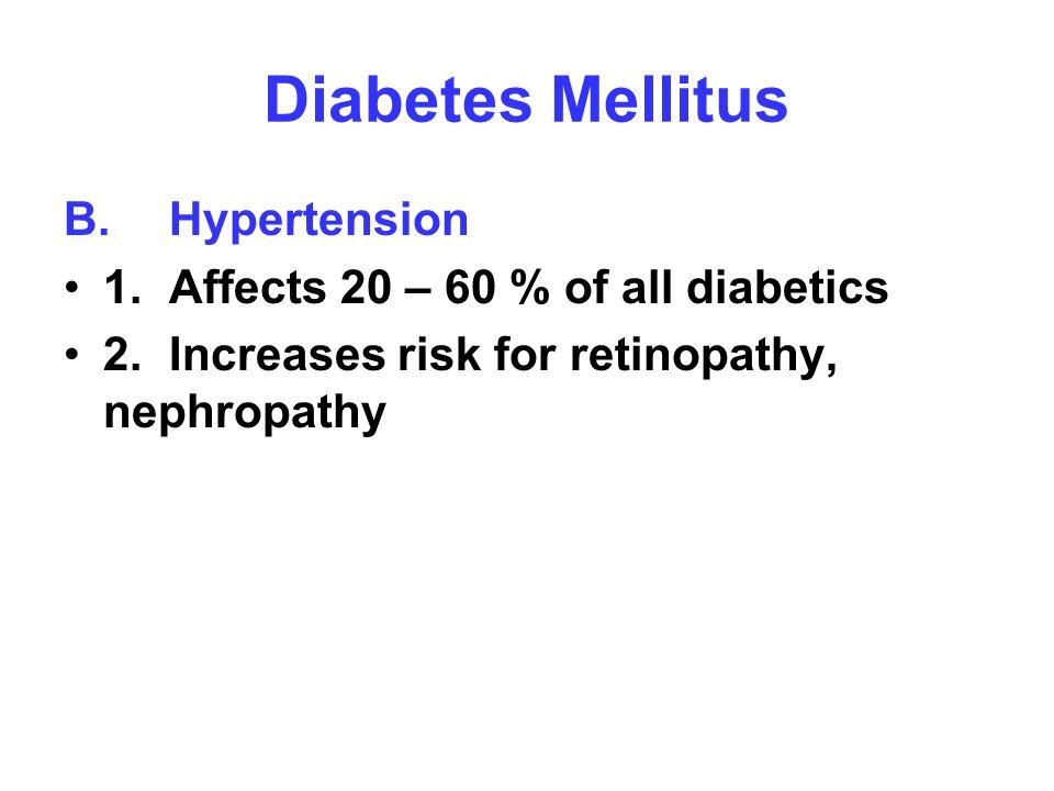 Diabetes Mellitus B. Hypertension
