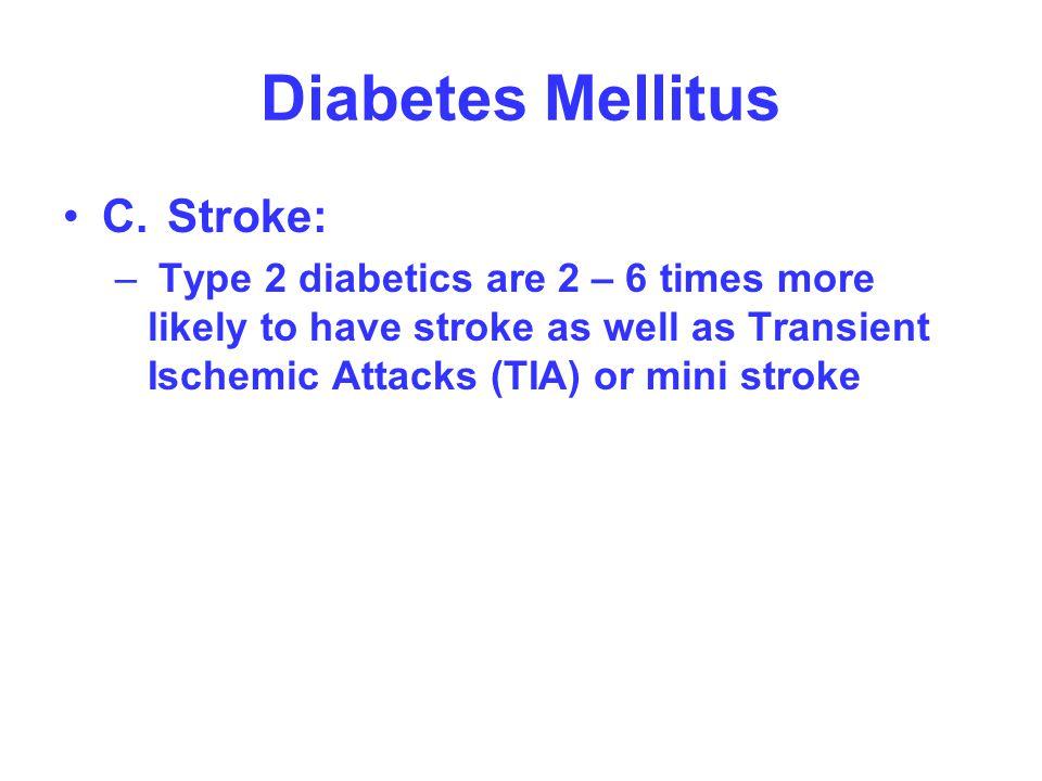 Diabetes Mellitus C. Stroke: