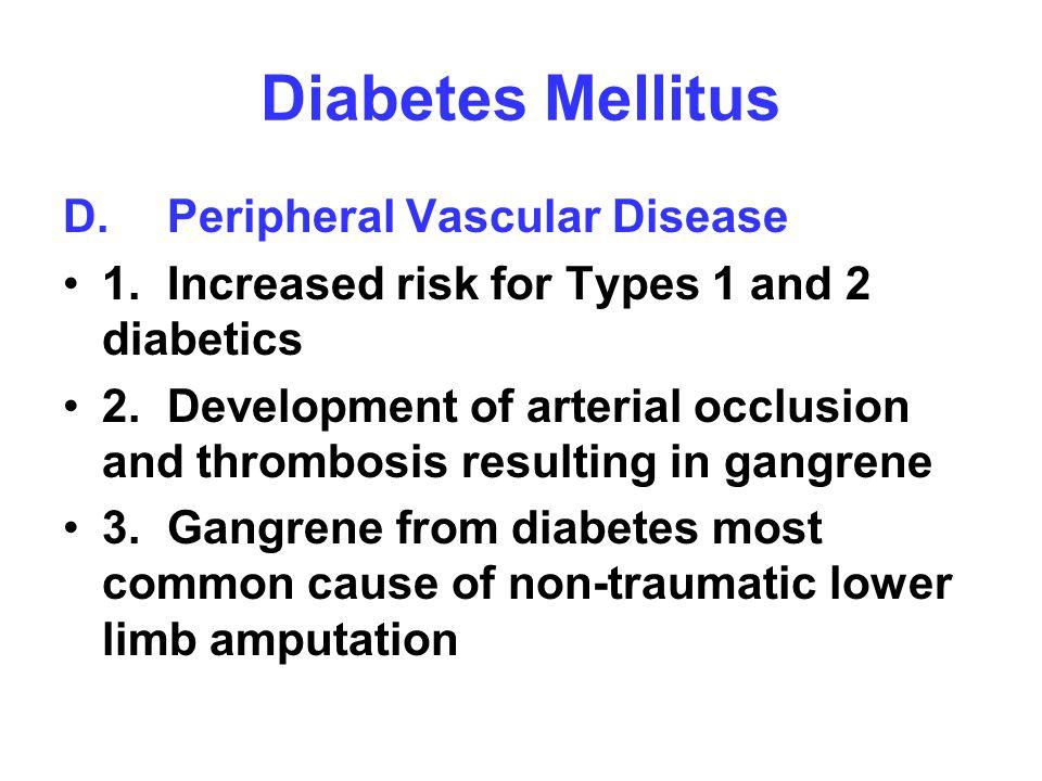 Diabetes Mellitus D. Peripheral Vascular Disease