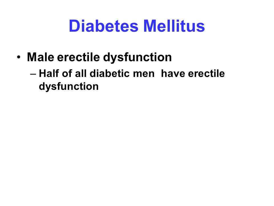 Diabetes Mellitus Male erectile dysfunction