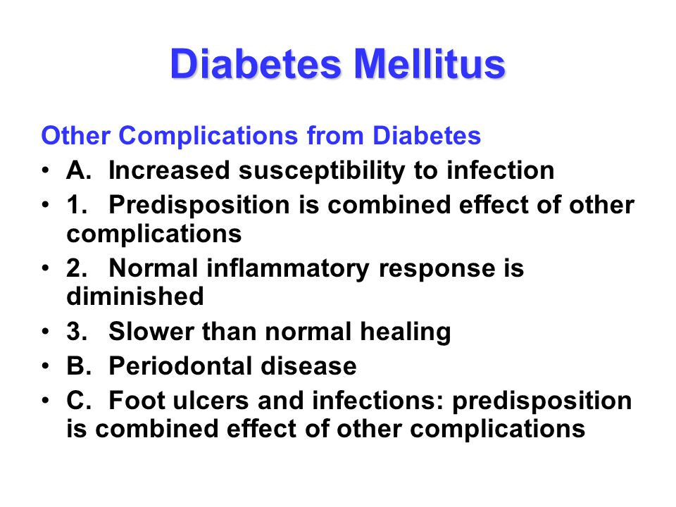 Diabetes Mellitus Other Complications from Diabetes