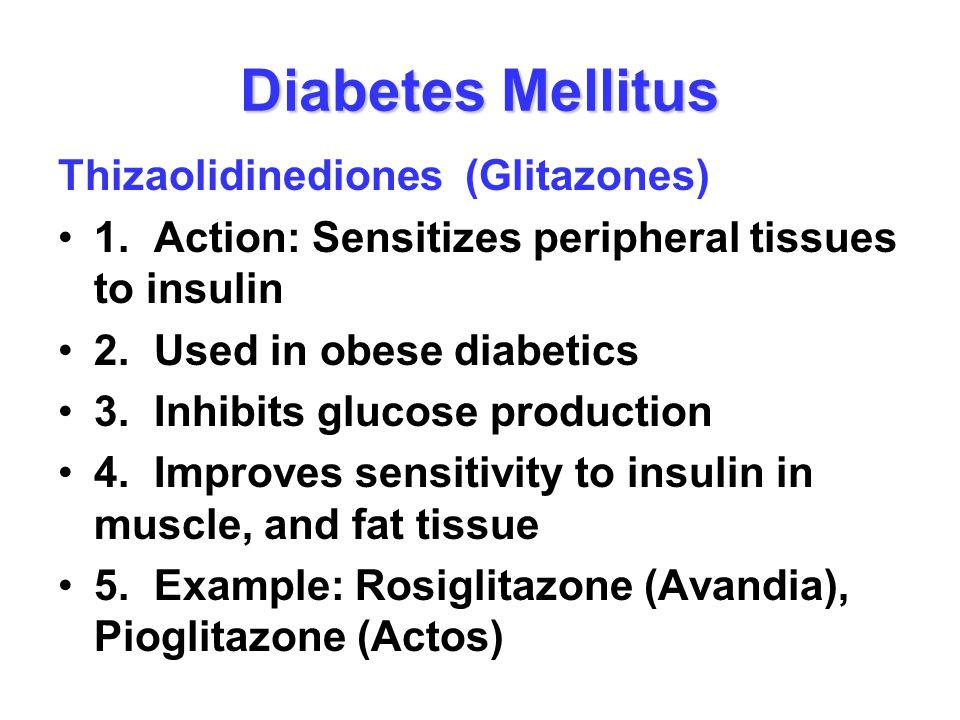 Diabetes Mellitus Thizaolidinediones (Glitazones)
