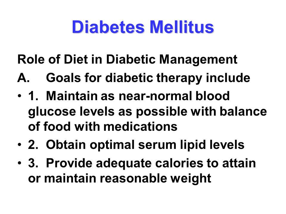 Diabetes Mellitus Role of Diet in Diabetic Management