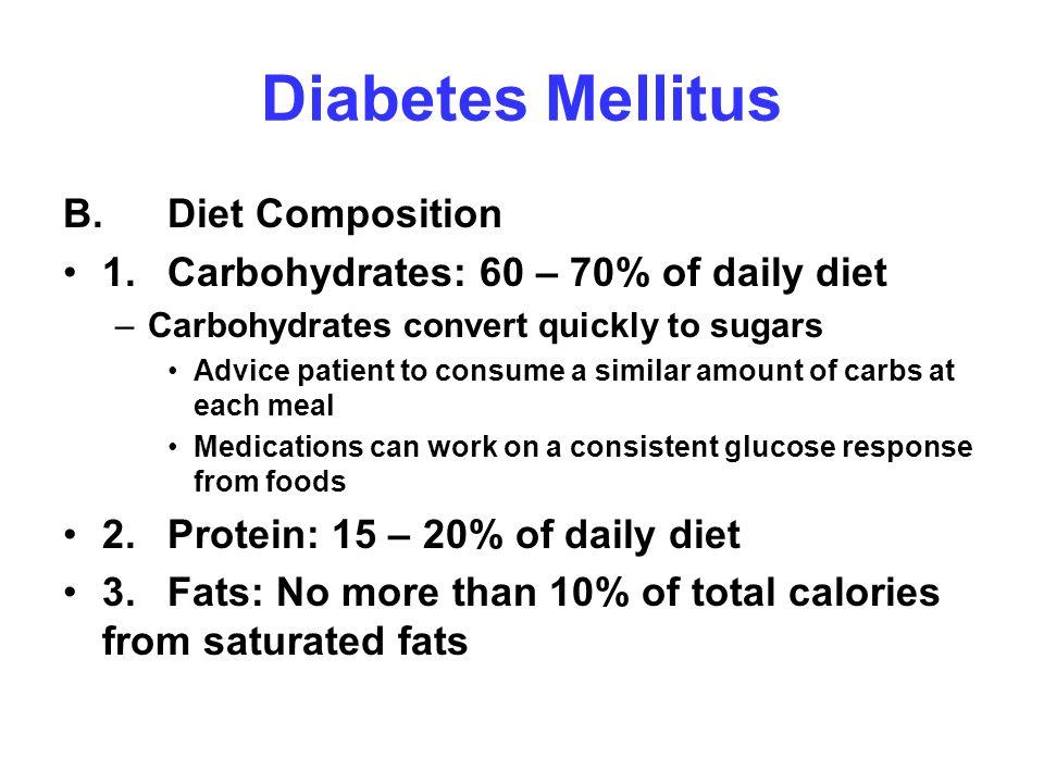 Diabetes Mellitus B. Diet Composition