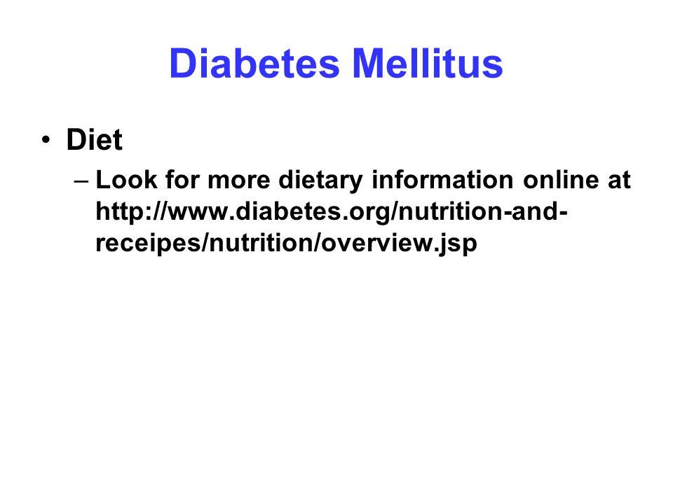 Diabetes Mellitus Diet