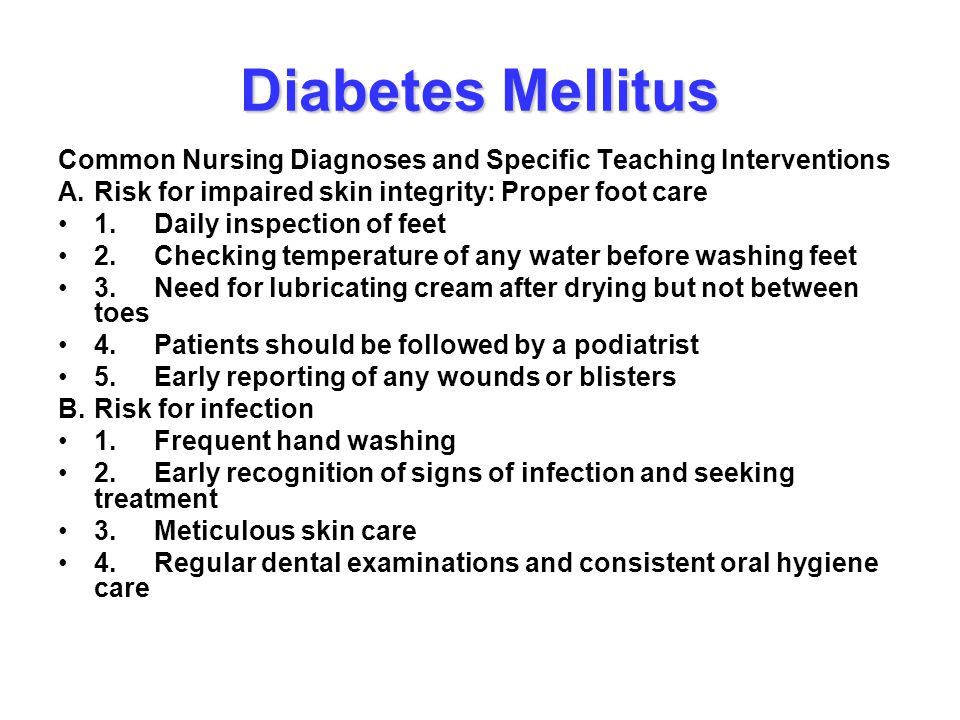 dm teaching plan Diabetes education - #2 diabetes mellitus type 2   diabetes education - #2  need to stick to a meal plan and eat meals at regular times this will lessen.