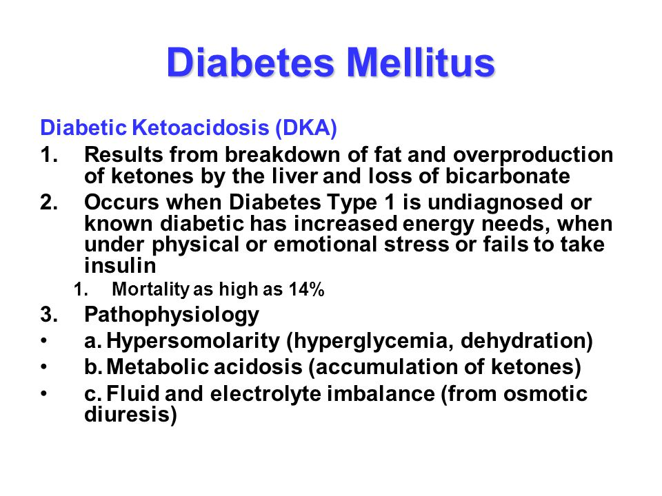 Diabetes Mellitus Diabetic Ketoacidosis (DKA)