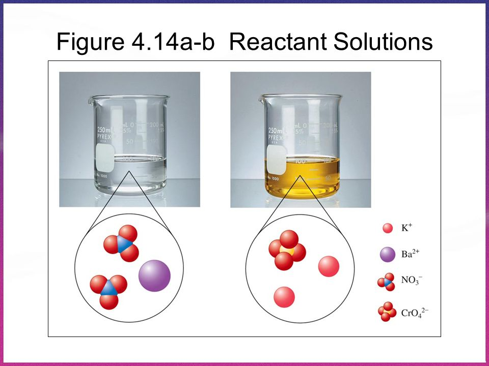 Figure 4.14a-b Reactant Solutions