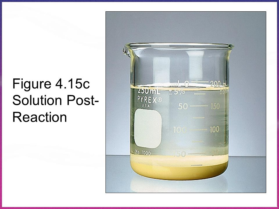 Figure 4.15c Solution Post-Reaction