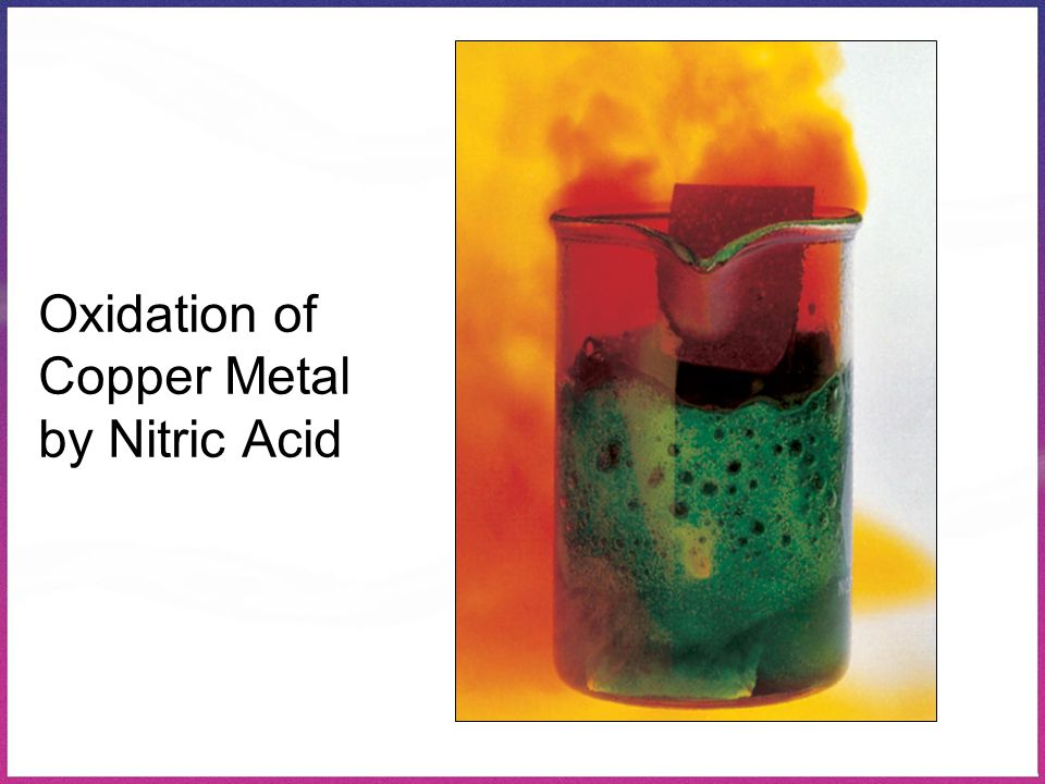 Oxidation of Copper Metal by Nitric Acid
