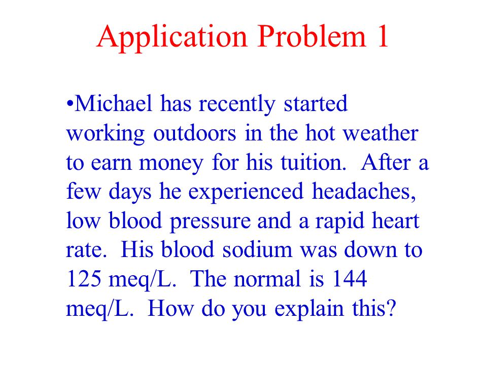 Application Problem 1