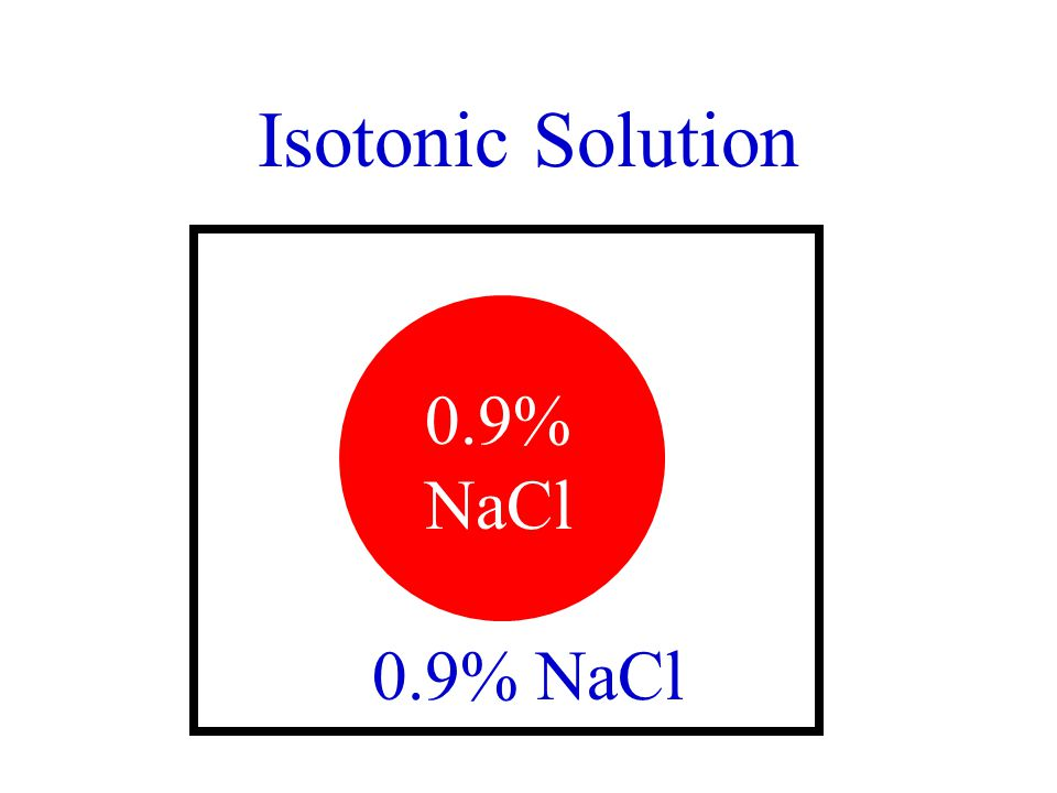 Isotonic Solution 0.9% NaCl 0.9% NaCl