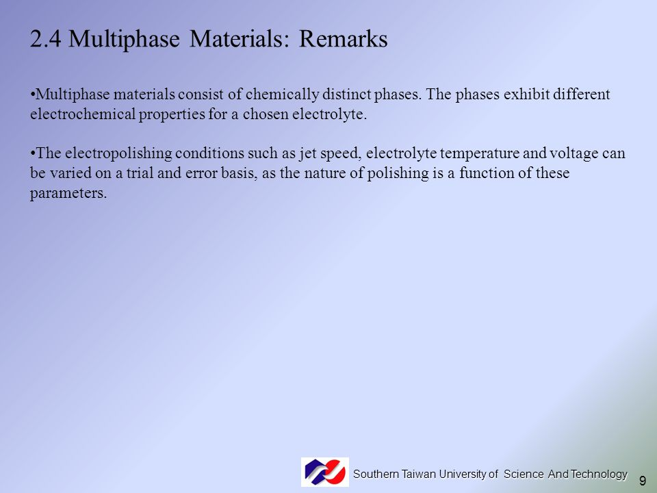 2.4 Multiphase Materials: Remarks