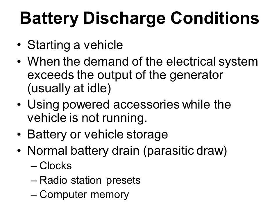 Battery Discharge Conditions