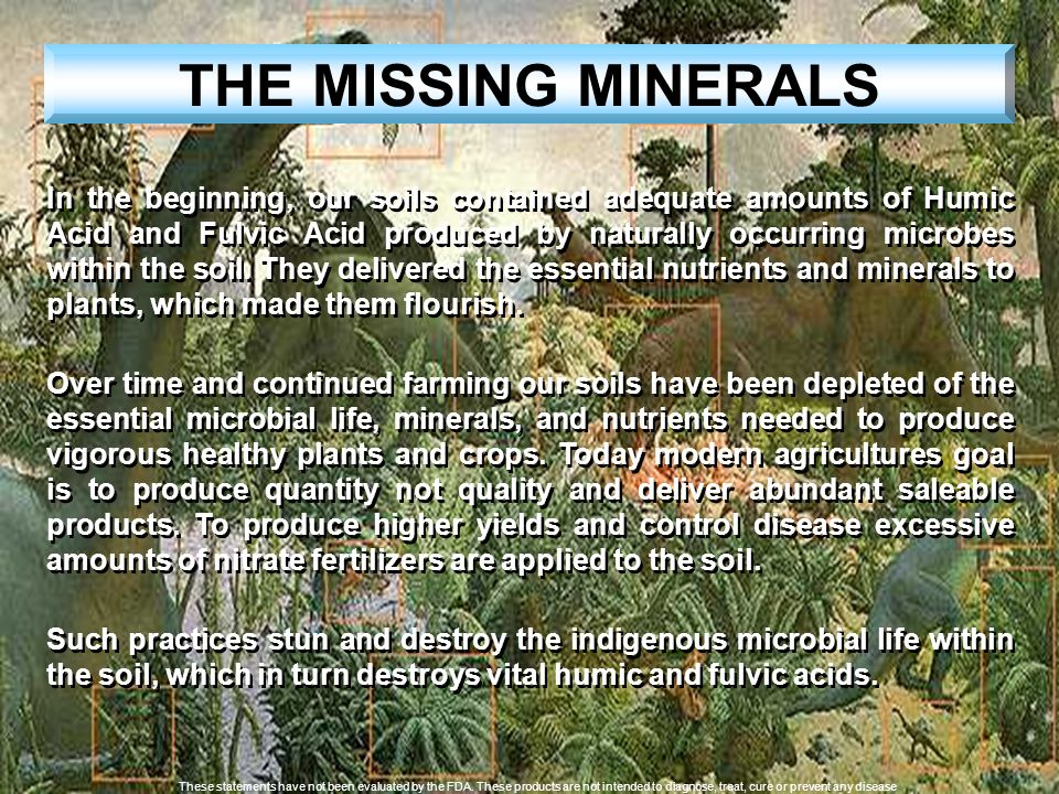 THE MISSING MINERALS