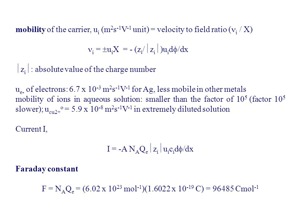 i = uiX = - (zi/zi)uid/dx