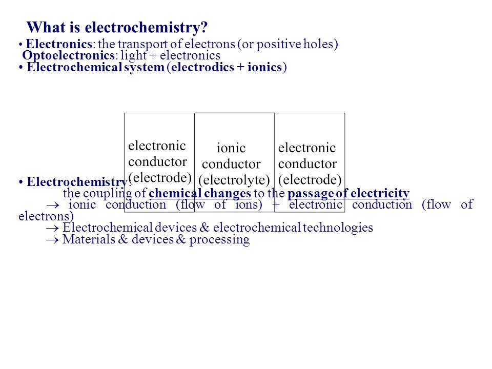 What is electrochemistry
