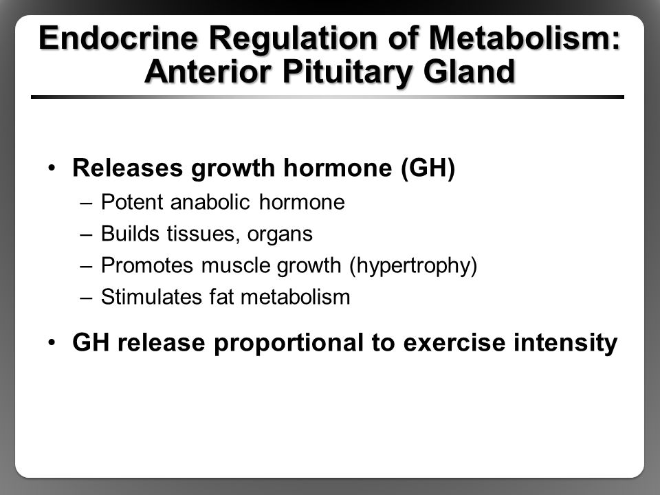 Endocrine Regulation of Metabolism: Anterior Pituitary Gland