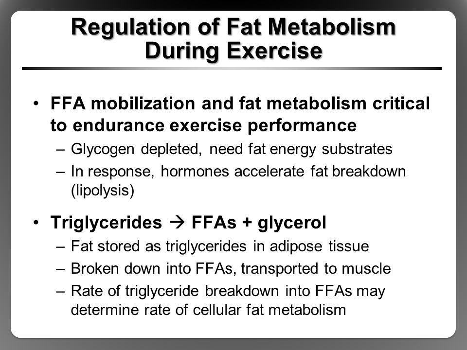 Regulation of Fat Metabolism During Exercise