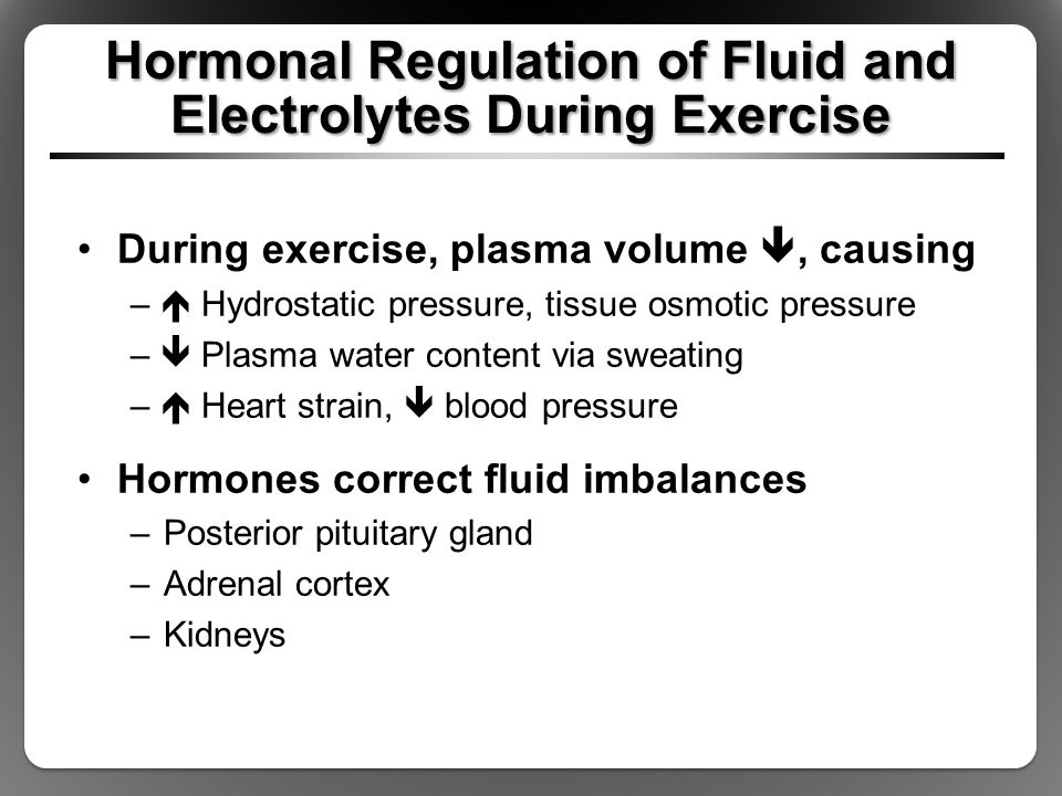Hormonal Regulation of Fluid and Electrolytes During Exercise