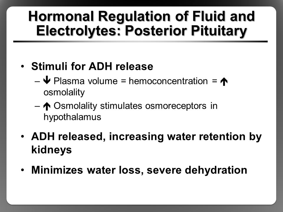 Hormonal Regulation of Fluid and Electrolytes: Posterior Pituitary