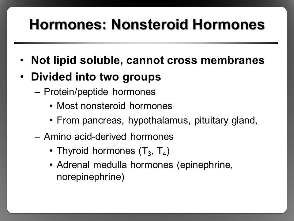 Hormones: Nonsteroid Hormones