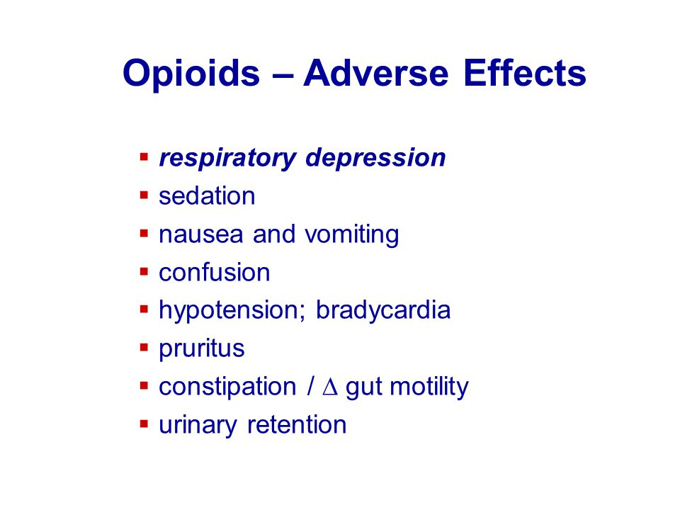 Opioids – Adverse Effects
