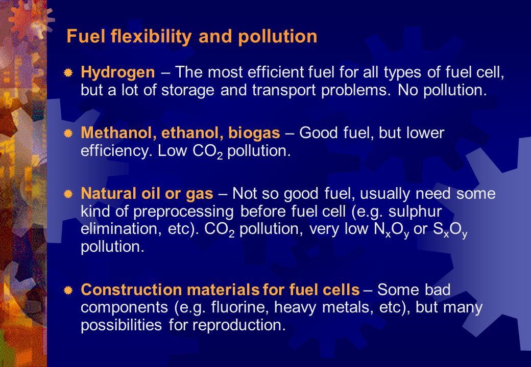 Fuel flexibility and pollution