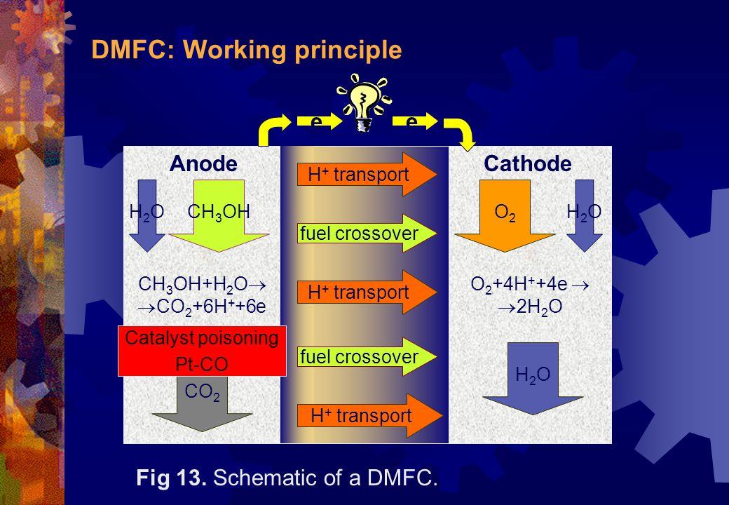 DMFC: Working principle