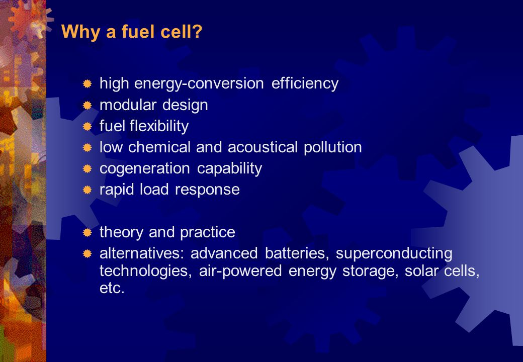 Why a fuel cell high energy-conversion efficiency modular design