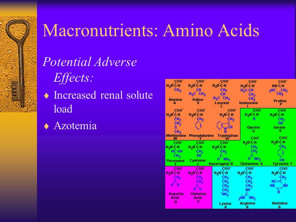 Macronutrients: Amino Acids