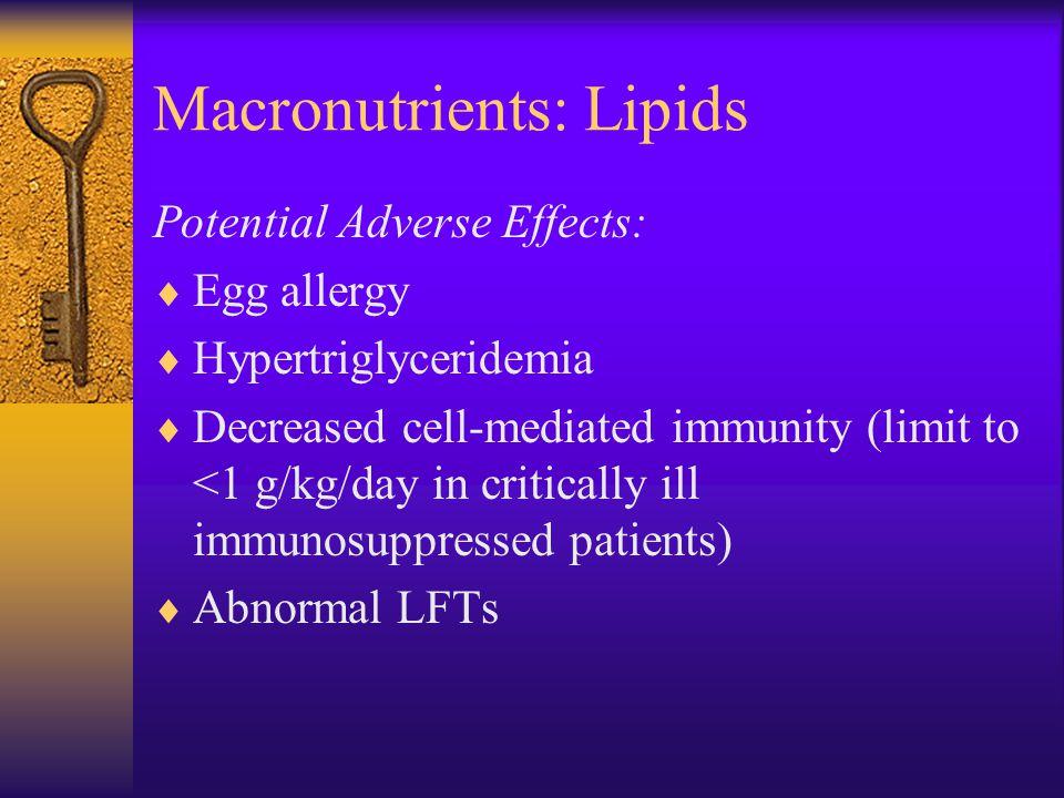Macronutrients: Lipids