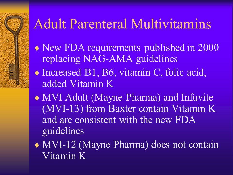 Adult Parenteral Multivitamins