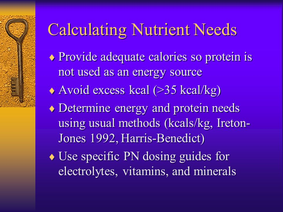 Calculating Nutrient Needs