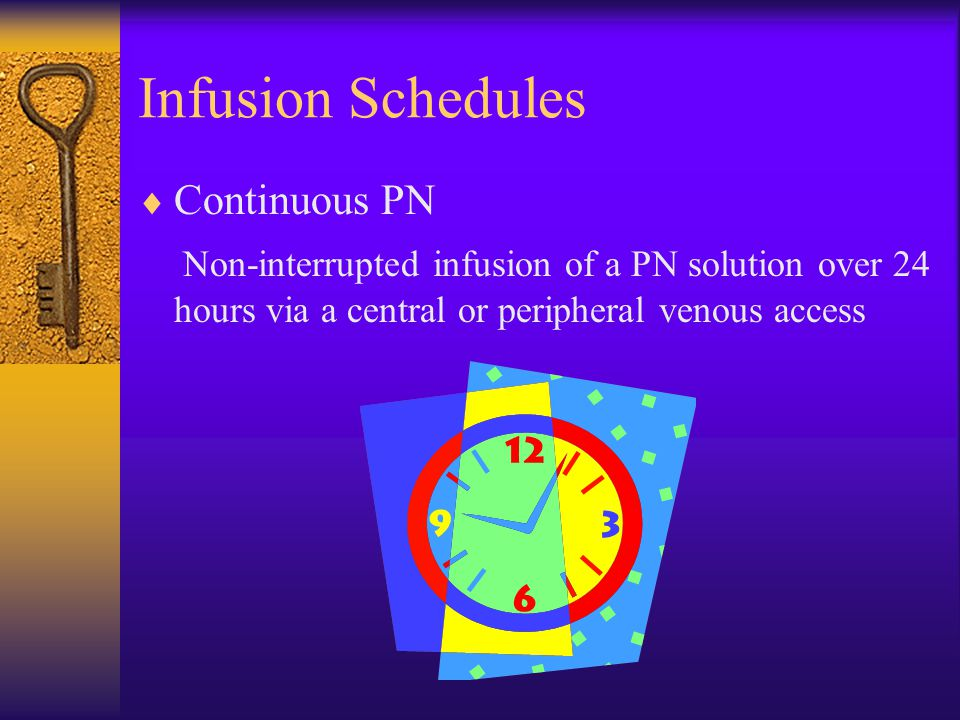 Infusion Schedules Continuous PN