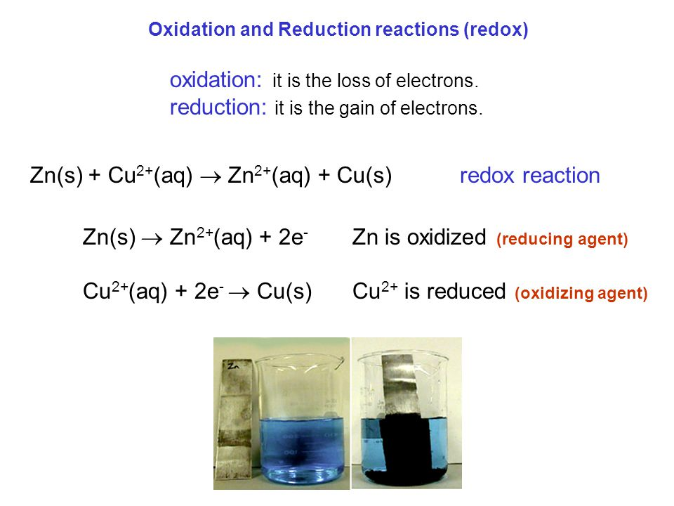 oxidation: it is the loss of electrons.