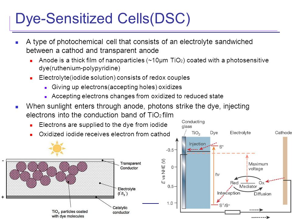 Dye-Sensitized Cells(DSC)