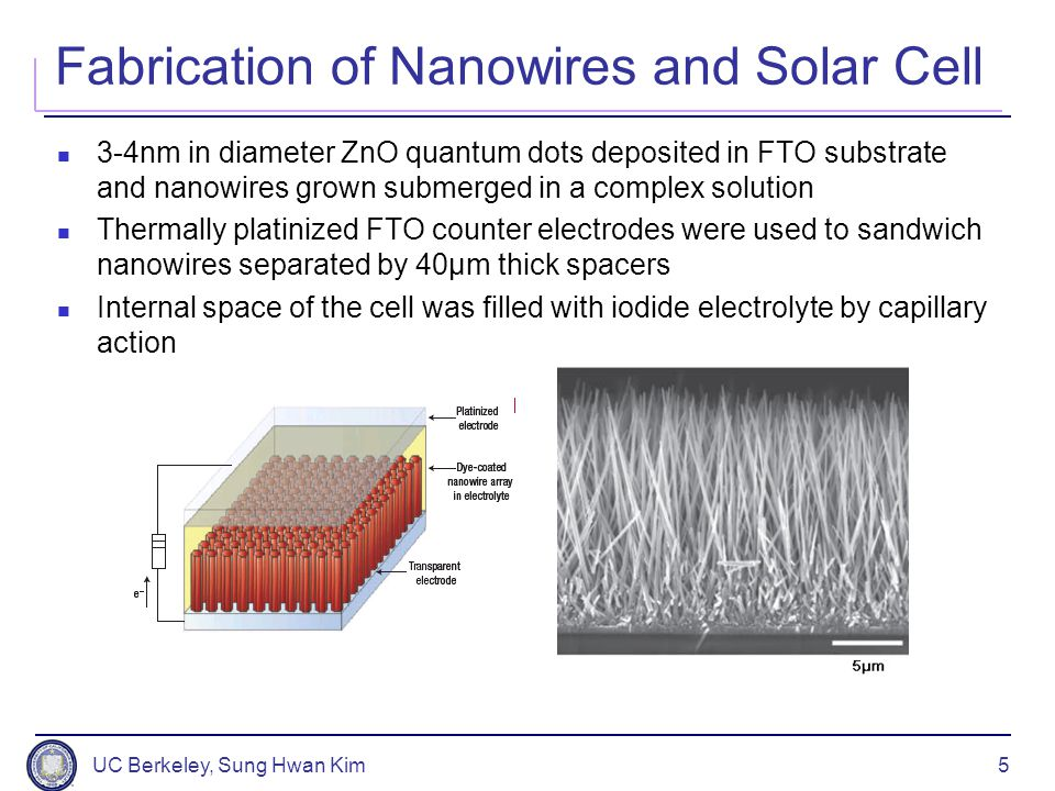 Fabrication of Nanowires and Solar Cell