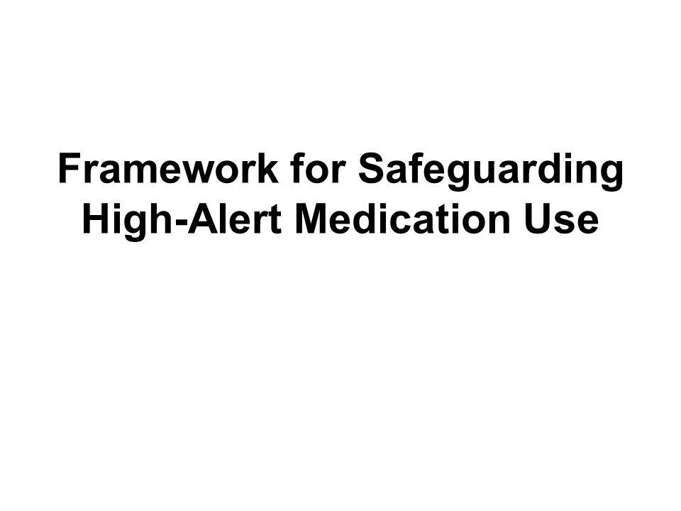 Framework for Safeguarding High-Alert Medication Use