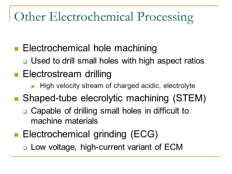 Other Electrochemical Processing